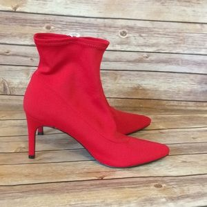 Super Fun Red Ankle Boots